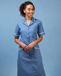 Short Sleeve Zip Fasten Dress With Contrast Trim