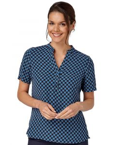 Vortex geo print blouse