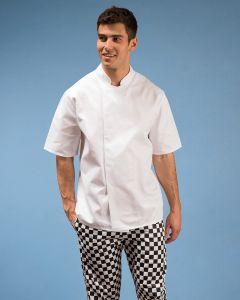 short sleeve white chef jacket