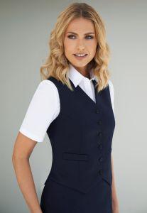 Women wearing work waistcoat