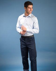 Men's Plain Trouser Zip Fasten And Sewn In Crease