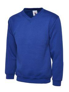 Premium Set In Sleeve V Neck Sweatshirt