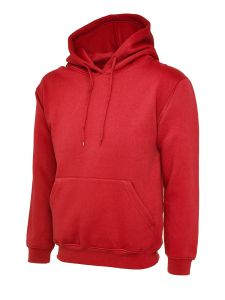 Classic Pullover Hooded Sweatshirt With Front Pouch Pocket