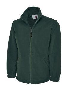 Green Unisex Full Zip Micro Fleece Jacket