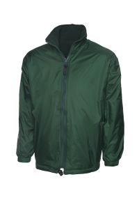 Bottle Green Reversible Fleece Jacket