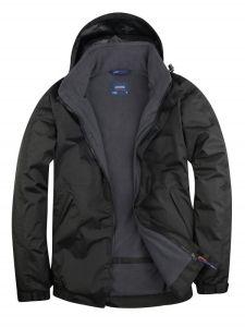 Deep Grey Fleece Lined Waterproof Jacket